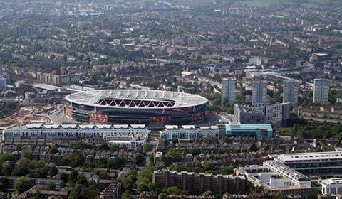 The Emirates Stadium in Holloway, London
