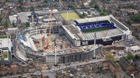 Tottenham Hotspur stadium aerial view