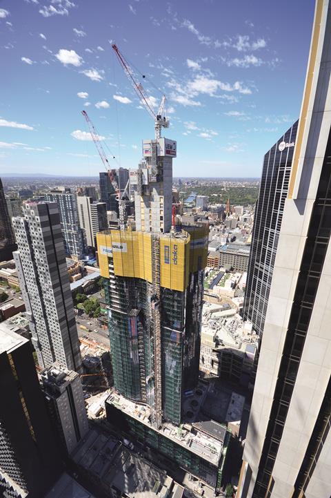 Construction of Aurora Melbourne Central