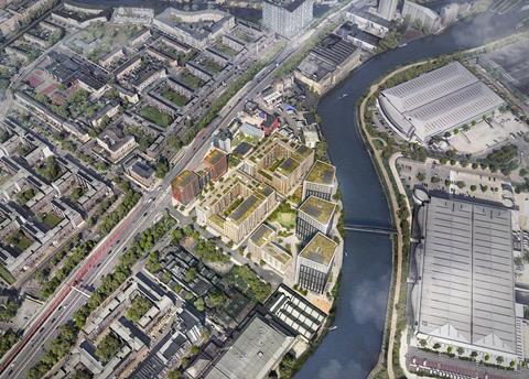 Aerial view of Ailsa Wharf