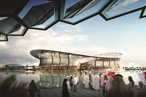 Lusail Iconic Stadium, proposed for the Qatar World Cup 2022