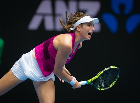 Johanna Konta in action at the 2016 Australian Open