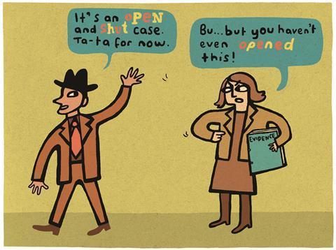 Legal cartoon