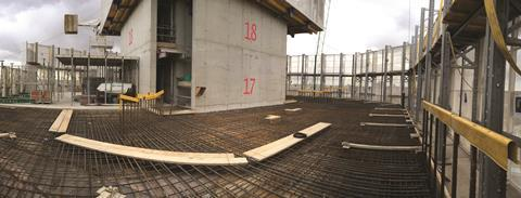 The concrete slab