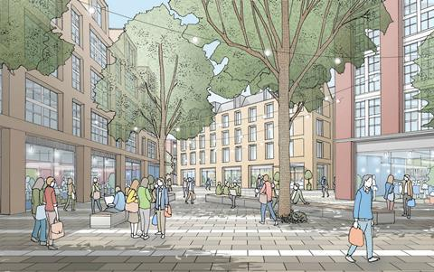 Commercial quarter of the York Central development, masterplanned by Allies & Morrison and Arup
