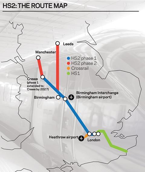 HS2 map