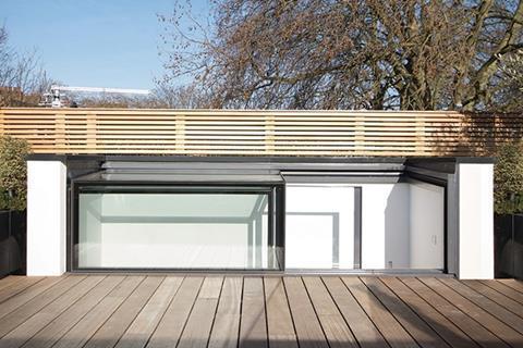 Glazing Vision's three-wall glass box rooflight