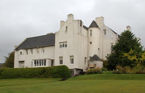 Hill House by Charles Rennie Mackintosh, pictured in September 2017