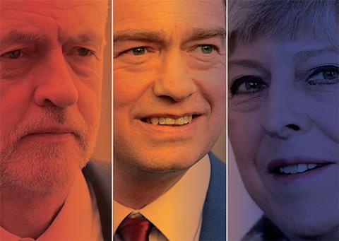Election 2017 leaders