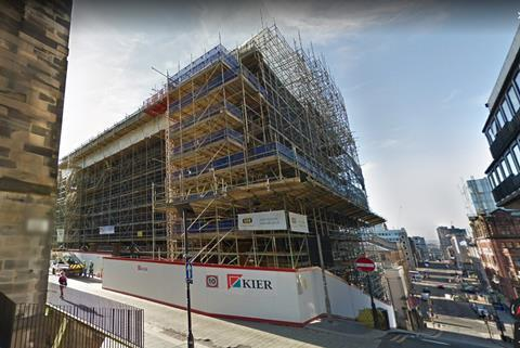 The Mackintosh building under reconstruction by Kier