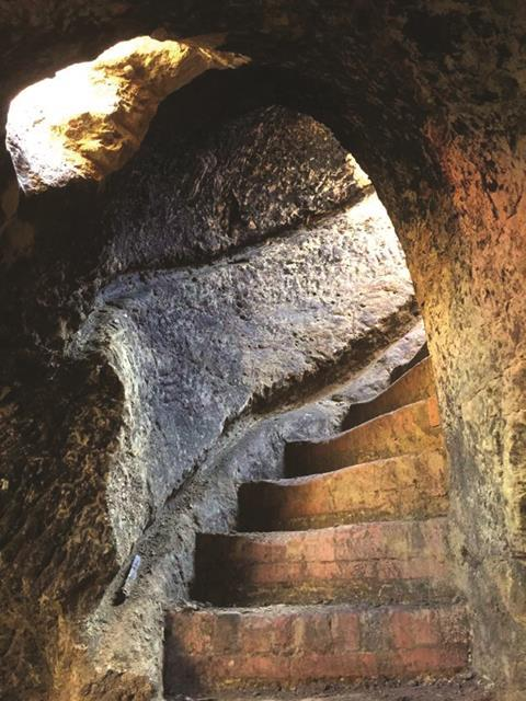 Cave steps
