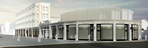 Buckley Gray Yeoman - plans for South Kensington Tube station - Thurloe Street, arcade and bullnose