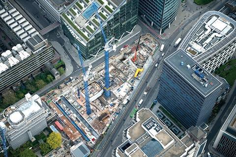 The scheme is being built in the heart of the City next to the Barbican Centre