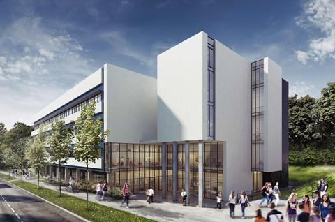 An artist impression of how the new teaching building will look at the university of east anglia fbm architects