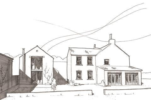 Sketch of barn conversion