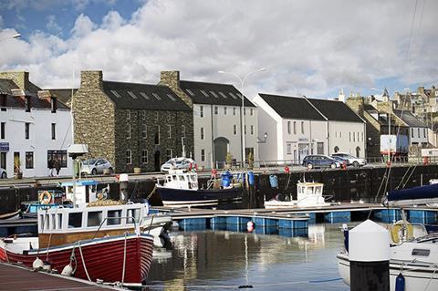 Maritime buildings in Wick Scotland