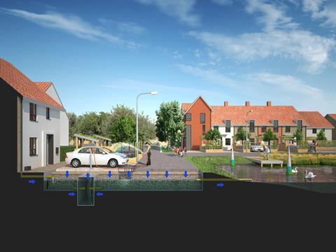 Exemplar water positive scheme, Norwich