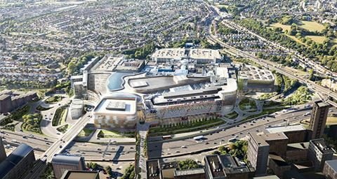 Brent Cross shopping centre aerial