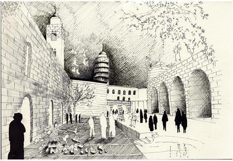 Homs City, Syria, sketch