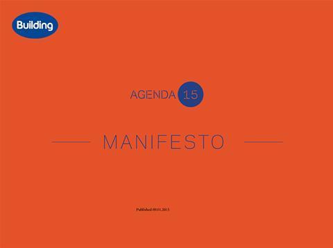 Agenda 15 Manifesto cover