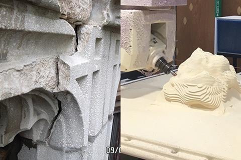 Damage and foam