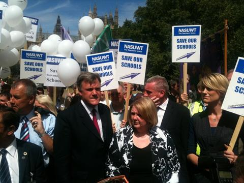 Ed Balls joins teachers campaigning against BSF cuts