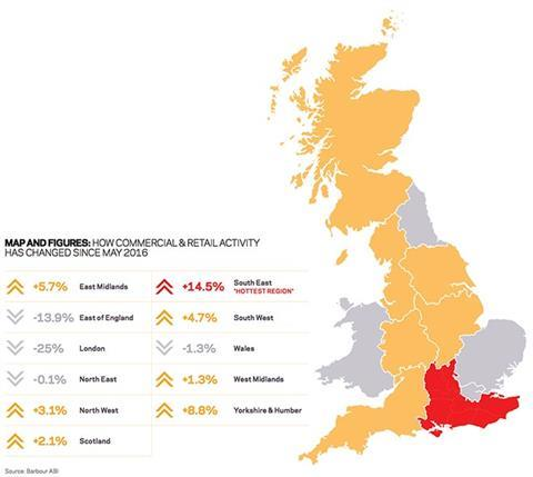 Map and figures: How residential activity has changed