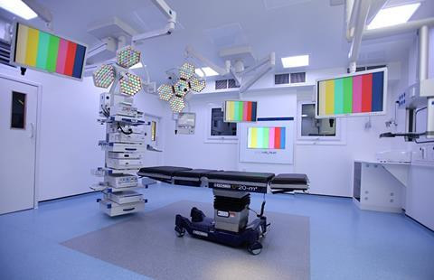 A private hospital department reconfigured to house a new digital theatre
