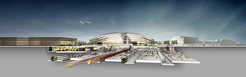 Farrell's London - Gatwick airport transport interchange with second runway