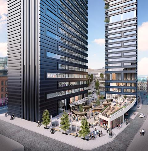 Make and Gary Neville's St Michael's scheme - St Michael's Square and the towers