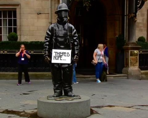Glasgow fireman There is Hope