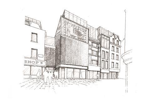 Sketch for Welaker's Court, Soho, London by Martha Enthoven
