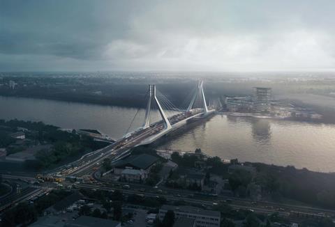 UNStudio winning scheme for Danube bridge at Budapest (1)