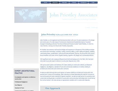 John Priestley webpage from WayBack Machine crop