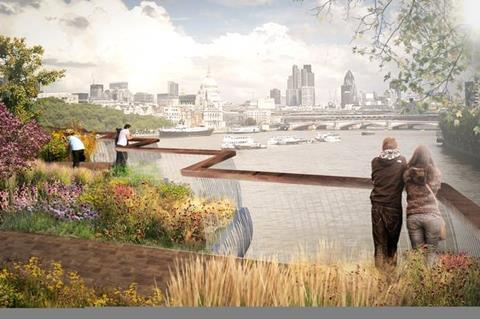 Heatherwick - London garden bridge