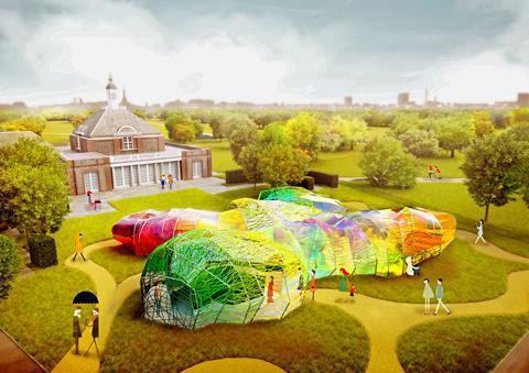 SelgasCano's Serpentine Pavilion - day render