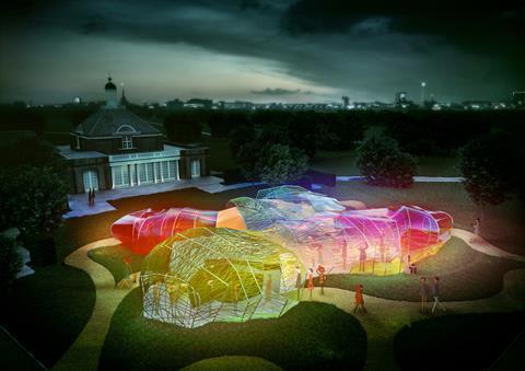 SelgasCano's Serpentine Pavilion - night render