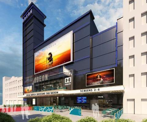 Ellis Williams Architects' proposals to refresh the Odeon Leicester Square