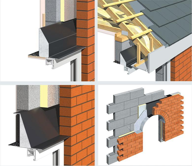clockwise from top left openback cavity wall lintel with no plate base u2013 this minimises cold bridging through the lintel openback cavity wall eaves
