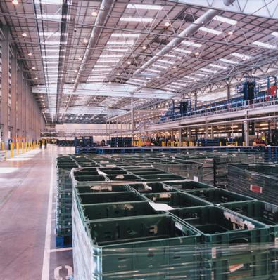 Sainsbury's distribution centre in Stoke-on-Trent illustrates how distribution has become a key part of the diversification of products sold in supermarkets